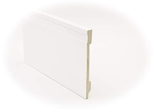 Zócalo - Rodapié Blanco de PVC hidrófugo, 15cm de alto y 220cm de largo