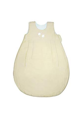ZEWI bébé-jou Baby Ganzjahresschlafsack, Tencel, Größe: 62/68 (2-6 Monate), Écru