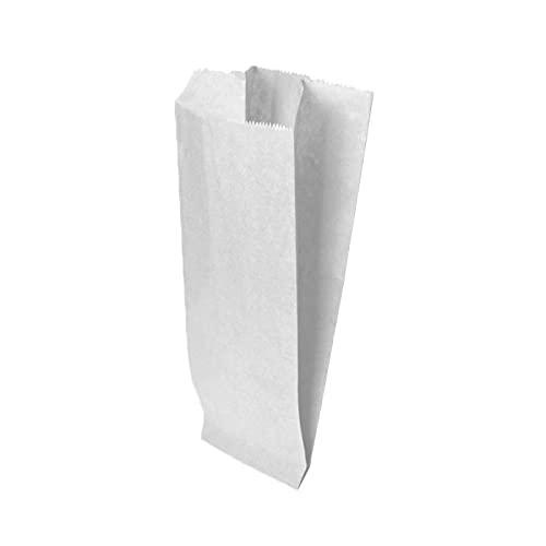 Palucart , 200 Sacchetti di Carta per Alimenti Sacchetto di Carta Bianco per Caramelle 14x30 Buste di Carta per Alimenti