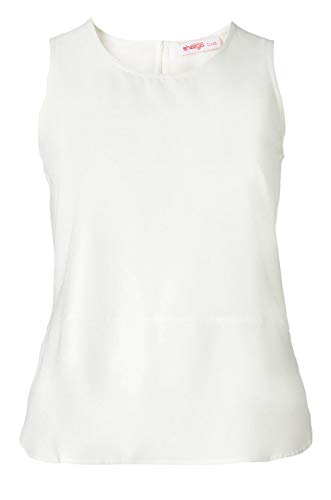 Sheego Crepe-Top Class-Styles offwhite (44)
