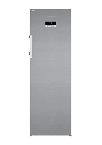 Grundig GFN 13840 XN Gefrierschrank/No Frost/Display mit Sensortasten/6 Gefrierschubladen/2 Gefrierfächer/Edelstahllook/HxBxT: 184,5x59,5x67 cm