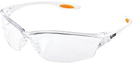 Crews (MCR Safety Glasses) LW210AF - Law Safety Glasses - Anti-Fog, Transparent Lens, Transparent Frame/Temple Color, Polycarbonate, Universal Size, Provides UV Protection, ANSI Z87x2, Pack of 15
