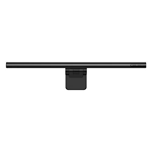 Baseus LED-Monitor-Lampe, E-Reading Schreibtischlampen Clip Bildschirmlampe Einstellbare Helligkeit und Farbtemperatur, Keine Bildschirm Blendung oder Flimmern, USB aufladen Büro Lampe, Schwarz