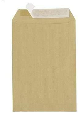 Sobres 500 C5 162 x 229 mm ventana sin Kraft de papel 90 g de cierre Brown con cinta adhesiva sensible a la presión
