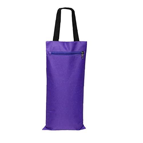 Fitness Gewichten Zandzakken Training Exercise Heavy Duty Workout Gym zandzak Ongevulde Fitness Filler zandzak Yoga Het toevoegen van gewicht te dragen Prop apparatuur met handvat rits Purple