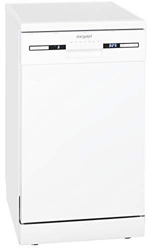 Exquisit Geschirrspüler GSP 9309 | Standgerät, Unterbaugerät | 9 Maßgedecke | Weiß