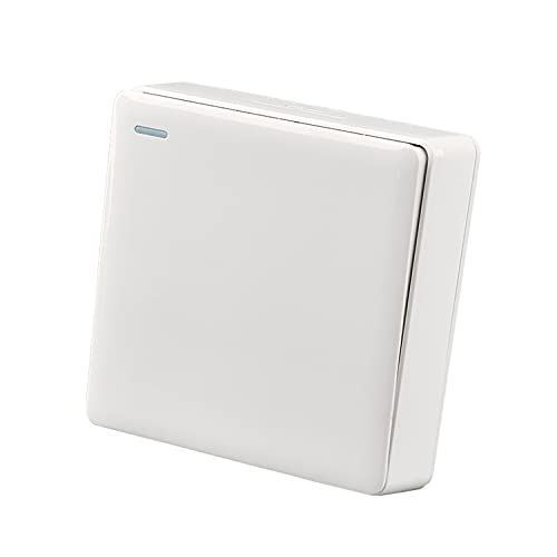 Yoaodpei Panel de interruptores Lámpara de pared doméstica de alambre abierto ultrafino Controlador de fuente de alimentación Tipo 86 Controlador de interruptor montado en superficie Interruptor de en