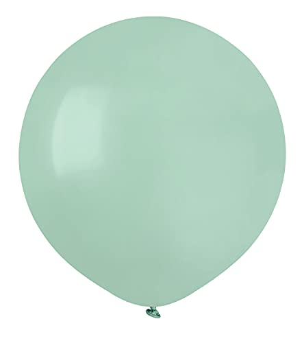 "Paquete 25 globos en latex natural Premium Quality G150 (Ø 48cm / 19""), verde aguamarina"