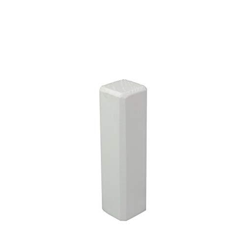 Trevendo® Eckturm 4er Pack Eckstab Innenecke, Außenecke Leisten Verbinder Echtholz weiß lackiert (22 x 22 x 81 mm (E4))