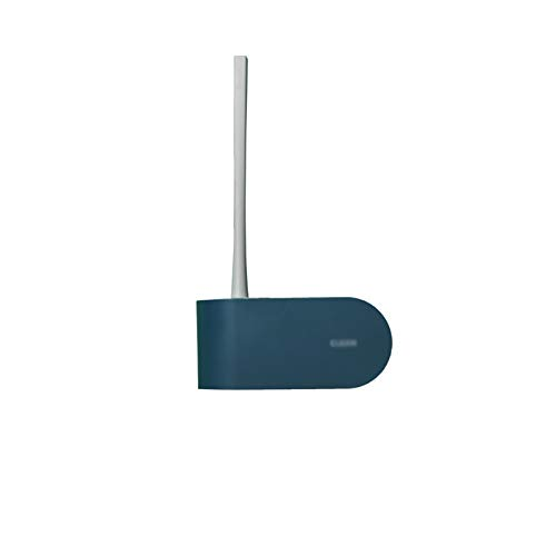 zunruishop Toilet Brush Holder Punch-Free Toilet Brush Soft Bristles Strong Cleaning Power No Damage to The Toilet is The Best Choice for Housewarming Gifts Silicone Toilet Brush (Color : Blue)