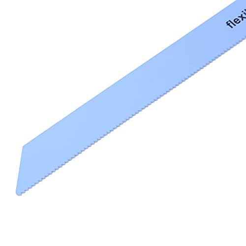 Hoja de sierra, 3 piezas de hoja de sierra de corte de metal de 225 mm, sierra recíproca de metal, hoja de sierra caladora de acero con alto contenido de carbono de primera calidad, firme y(14TPI)