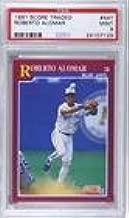 Roberto Alomar PSA GRADED 9 (Baseball Card) 1991 Score Rookie & Traded - Box Set [Base] #44T