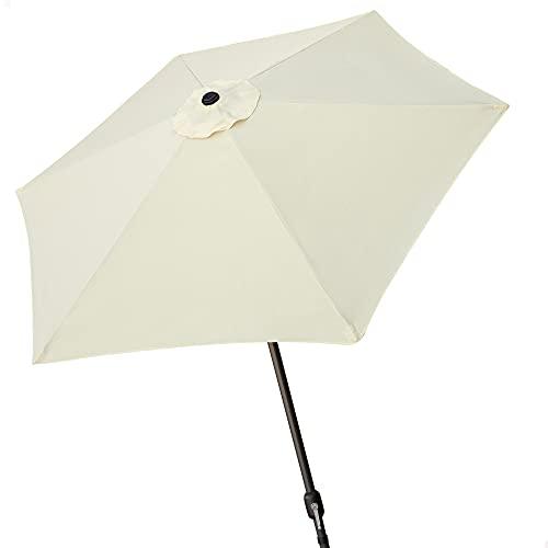 ombrellone da giardino manovella AKTIVE 53869 - Ombrellone Esagonale Diametro 270 cm - Telaio di Alluminio 38 mm - Colore Panna