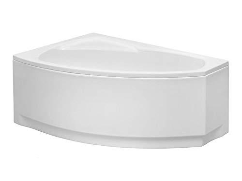 Aqualuxbad Badewanne | Wannen 150 x 90 cm Linkseinbau inkl. Wannenfuß und Ablaufgarnitur, Schürze:mit Schürze