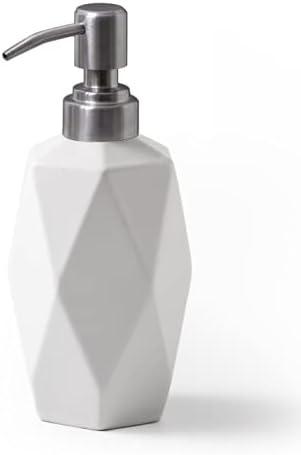FE Soap Dispenser 400ml Ceramic 13.5oz Rhombus Lotion Max 42% OFF Department store
