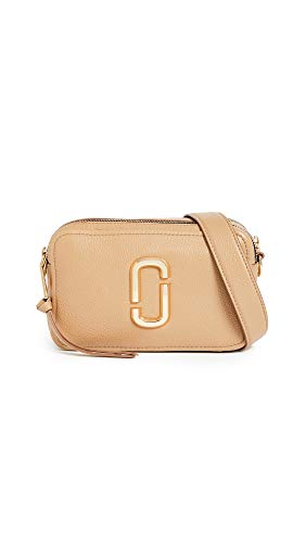 Marc Jacobs The Handtasche Softshot 21 in genarbtem Leder Beige