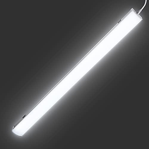Fluorescente Led 120CM, Leelike 36W Luz de tubo LED 3960LM IP65 Luminaria Luz de Techo Impermeable Lámpara LED, Luz húmeda Led para Armarios, Cocina, Oficina, Balcón, Cuarto, Garaje, Supermercado