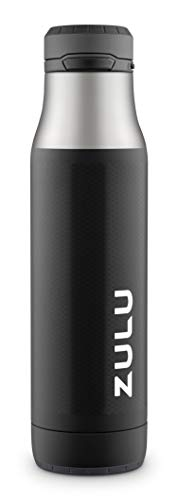 ZULU Ace Vacuum Insulated Stainless Steel Water Bottle with Removable Base | 24 oz | Black