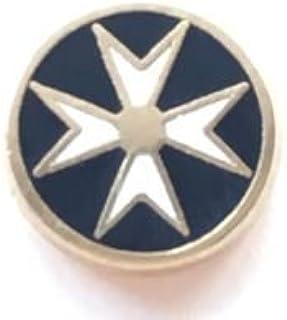 Emblems-Gifts Massonico Malta Croce Maltese Smalto Molto Piccola Distintivo di Lapel Pin