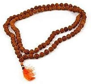 TDV Gemstone Rudraksha 5 Mukhi Jaap Mala (108+1 Beads) Original Nepal Beads by Lab Certified
