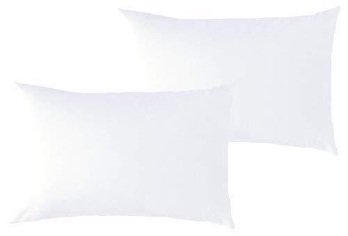 P'tit Basile - Lot x2 Taies d'oreiller 40x60 cm bébé - Coloris Blanc - 100% Coton Bio