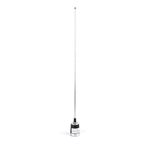 HYS Dual-Brand VHF/UHF Antena móvil de Radio de jamón, 53,3 cm, 144/430 MHz, Conector NMO para radios móviles