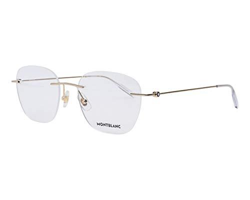 Mont Blanc MB0101O Oro 54/19/150 hombres Marco de gafas
