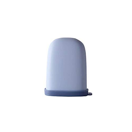 Xiaokeai Caja de jabón de Viaje con Tapa, Mini Caja de jabón portátil Creativa, Puede usarse como un Regalo para el Día de Acción de Gracias, Cumpleaños, Navidad (Azul/Rosa/Blanco) (Color : Blue)