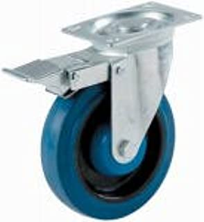 Shepherd Hardware 9011 400 Series 5-Inch Tool Box Swivel Plate Caster with Brake 400-lb Load Capacity