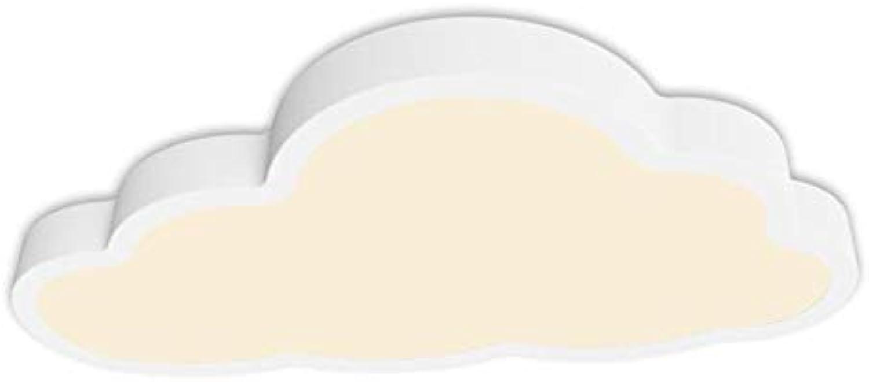 LED Deckenlampe Pendelleuchte 5CM ultradünne kreative Wolken Design Kinderzimmer Lichter Schlafzimmer Lichter Cartoon Lichter Kinderzimmer Lichter (Farbe   Warmes Licht-L 50W 28H 5CM-36W)