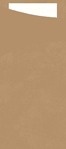 Duni Sacchetto Serviettentasche Uni nature, 8,5 x 19 cm, Tissue Serviette 2lagig weiß, 100 Stück