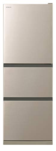 日立冷蔵庫265L3ドア右開き幅54cmまんなか野菜室R-27KVNシャンパン
