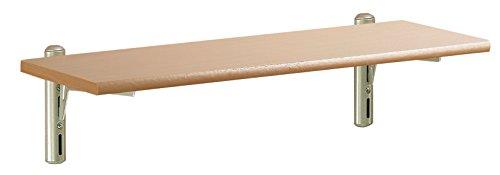 Element systeem 11315-00000 wandset Pino, 590 x 185 x 16 mm, plank beuken, wit aluminium