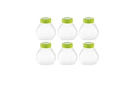 Tefal Multidelices XF102032 - Accesorios yogurtera, plástico, blanco/verde, 200 ml, 6 botellines