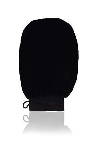 Horn Medical Premium Peeling-Handschuh für eine seidenweiche, glatte Haut, Schwarz