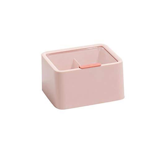 Lubudup Caja de almacenamiento para mando a distancia de escritorio, también como organizador para cosméticos, joyas, material de oficina, artesanía, 13 x 14,5 x 8 cm