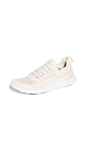 APL: Athletic Propulsion Labs Women's Techloom Breeze Sneakers, Nude/Pale Multi/White, 8 Medium US
