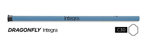 Epoch Lacrosse Shaft - Dragonfly Integra 2, 30' Soft-Flex iQ9, Concave, Made in USA, Removable End Cap, 1-Year Warranty, Gray/Black