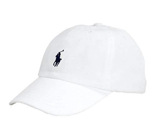 Ralph Lauren Little Boys Polo Cap (Size 4-7) (White (Navy Pony))
