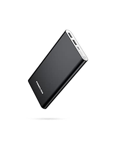 Pilot 2GS 10000mAh Power Bank - Batería externa potente de carga rápida con 2 USB 3.1A (3.4A Max) de alta capacidad cargador portátil para teléfonos Samsung, Huawei, Xiaomi, OnePlus, etc. - Negro