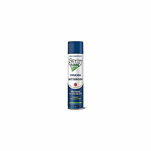 2 x Spray Disinfettante Igienizzante Virus, Batteri, Funghi'SANYMAYER' 400 ml  Spray Sanificante Dell'Aria, Aspirapolvere, Condizionatore, Climatizzatore Auto, Virucida, Battericida e Funghicida