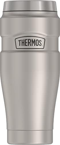 THERMOS Stainless King SK1005 Copo de viagem isolado a vácuo, 473 ml, aço inoxidável