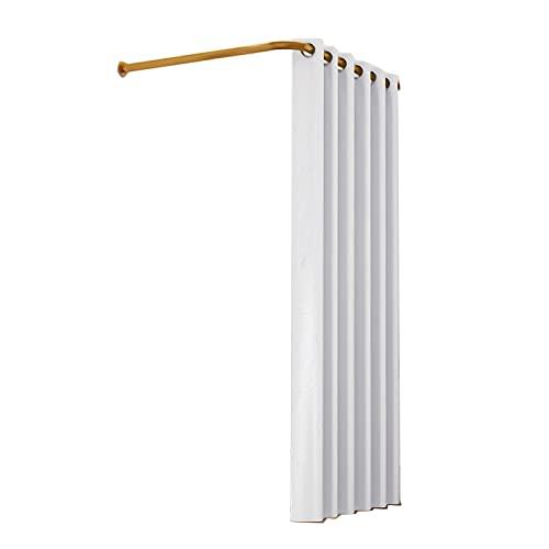 PTY Anproberaum L-förmige Duschvorhangstangen, multifunktionale Stretch-Vorhangstange, schmiedeeiserne Materialien, für Badezimmer, Umkleidekabine, Garderobe, Weiß
