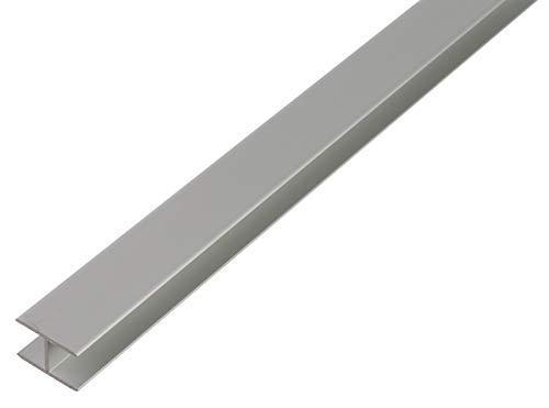 GAH-Alberts 30814 H-Profil | selbstklemmend | Aluminium, silberfarbig eloxiert | 1000 x 19,5 x 30 mm
