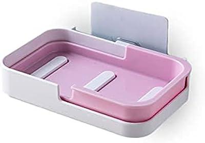 石鹸置き ソープトレー 壁を痛めない粘着式シール 水が垂れない 石鹸トレー 浮かす収納
