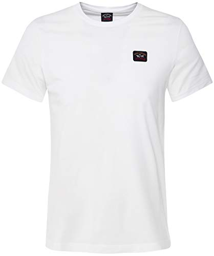 Paul and Shark Herren Crew-Nacken-T-Shirt Weiß M