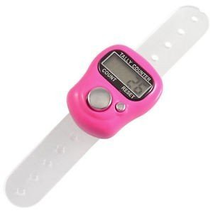 Inditradition 5 Digit Counting, Re-settable Digital Hand Tally Counter with Finger Strap (Multicolour)