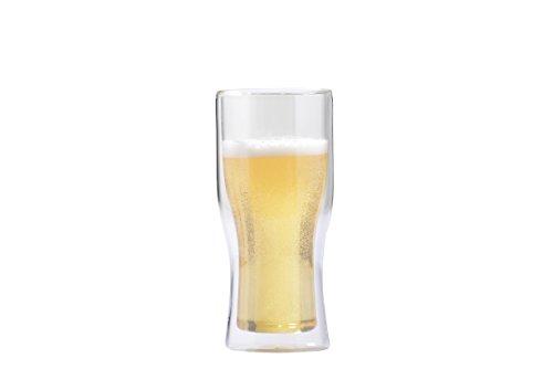 Vosi Double Wall Glass Beer Mug, Set of 2 (12 oz (Tumbler))