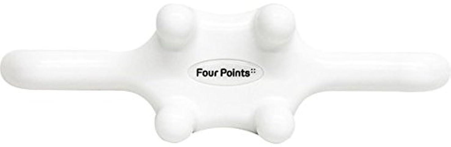 前投薬流メロンフォーポインツ Four Points ホワイト(全5色) 筋膜リリース 肩こり解消グッズ 腰痛改善グッズ 頭 首 背中 脚 ふくらはぎ 足裏 ツボ押し マッサージ グッズ