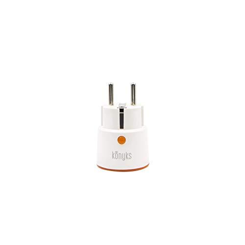 Konyks Priska+ Mini, prise Connectée compacte WiFi avec compteur de consommation, compatible avec Alexa et Google Home, automatisations faciles, 16A, 3520W, aucun hub nécessaire